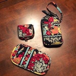 3 Vera Bradley Happy 🐌 Wristlet/glasses/pouch